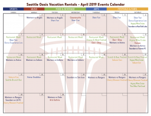 Seattle Events Calendar 2019 April Events in Seattle! – Seattle Oasis Vacations